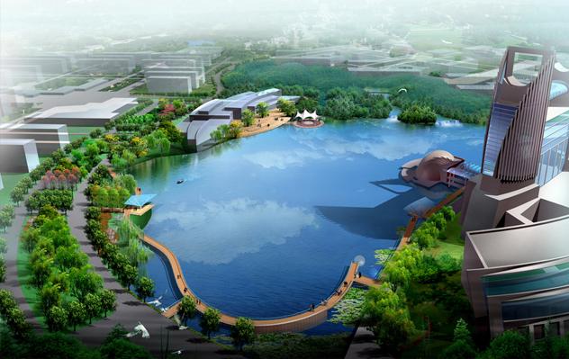 校园生态建筑景观_园林化,生态化的校园,景观环境与建筑规划有机结合,自然景观与人文